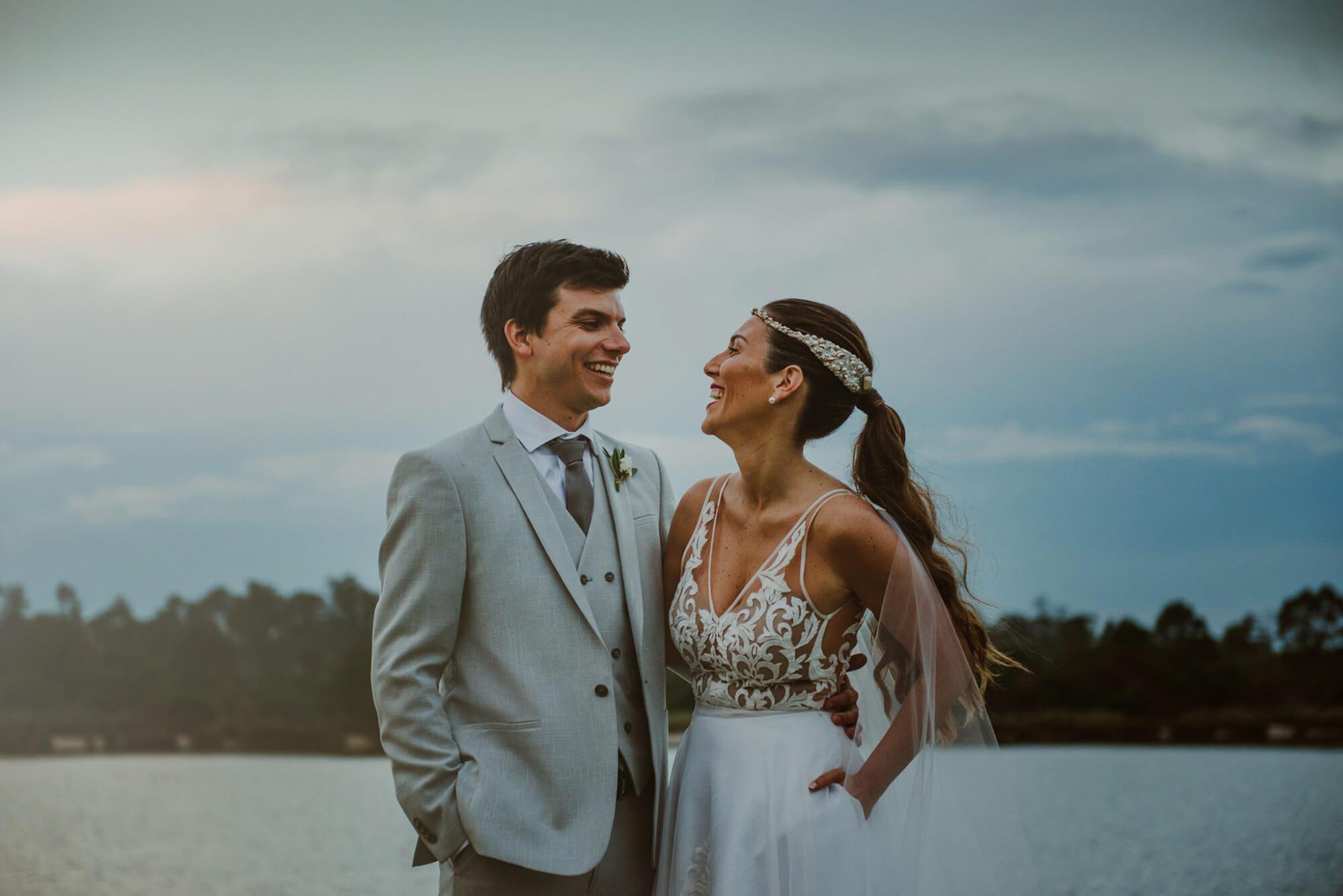 boda al atardecer en la soñada