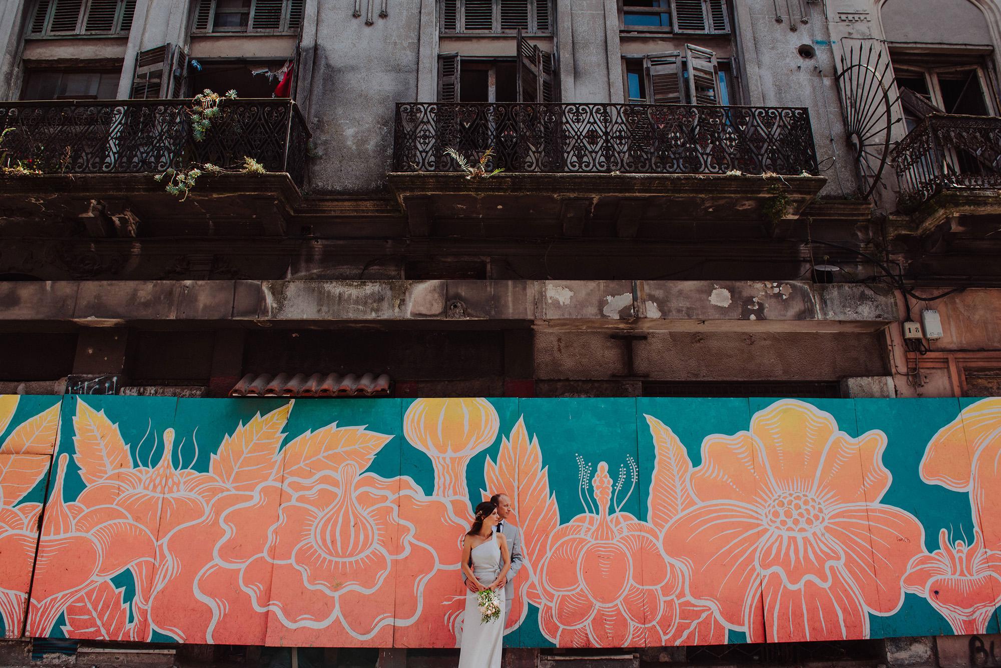 fotografia callejera de casamiento